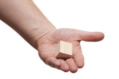Block in the hands of Stock Photography