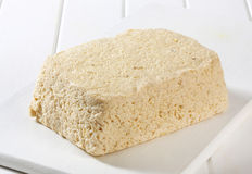 Block of homemade tofu Royalty Free Stock Photo