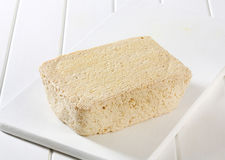 Block of homemade tofu Royalty Free Stock Photos