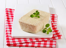 Block of homemade tofu Royalty Free Stock Image