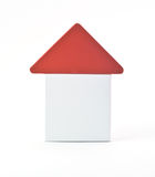 Block house. Isolated over white. new house or construction concept Stock Photos
