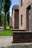 Block of houses in Auschwitz Stock Photos