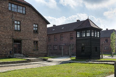 Block of houses in concentration camp in Auschwitz, Poland Royalty Free Stock Photography