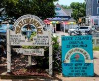 Block-Insel-Tradition Der Eiscreme-Platz Lizenzfreies Stockbild