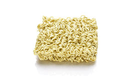 Block of Instant noodles on a white background Stock Image