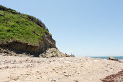 Block Island Beach Cliff Stock Photo