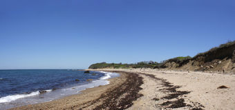 Block Island Beach Panoramic View Royalty Free Stock Photo