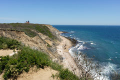 Block Island Mohegan Bluffs Stock Photography