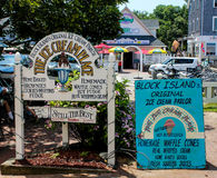 Block Island Tradition.  The Ice Cream Place. Royalty Free Stock Image