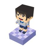 Block isometric cartoon character Royalty Free Stock Photo