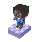 Block isometric cartoon character Royalty Free Stock Photography
