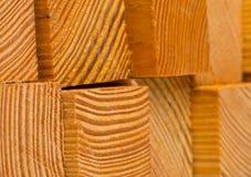 block klippte trä Arkivbild
