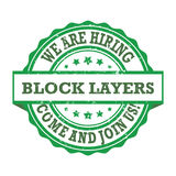 Block layers - We are hiring, come and join us Royalty Free Stock Photography