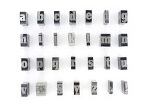 Block letters Royalty Free Stock Image