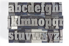 Block letters Royalty Free Stock Images