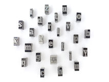Block letters Royalty Free Stock Photography