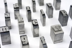 Block letters Stock Image