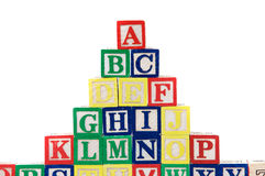 Block letters Stock Images
