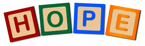 Block Letters Hope Royalty Free Stock Photos