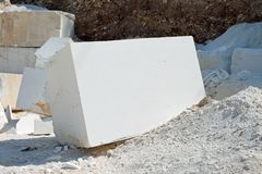 Block of marble Stock Image