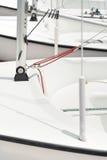 Block mit Seil auf Yacht Lizenzfreies Stockfoto