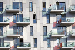 A block of modern apartment building alongside Regent's Canal (London) Stock Image