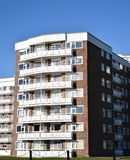 Bournemouth Flats. A Block of modern flats in Bournemouth Royalty Free Stock Images
