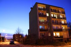Block by night. A photo of block by night royalty free stock photo