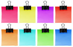 Block of note paper with clip - colorful Royalty Free Stock Photo