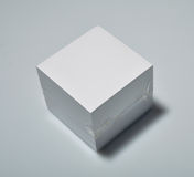 Block of note paper. Packed block of note paper royalty free stock photo
