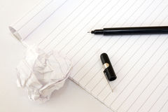 Block note and pen Royalty Free Stock Image