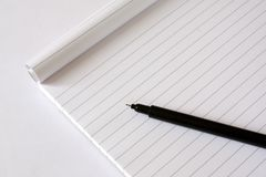 Block note and pen Royalty Free Stock Photos