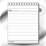 Block notes page lined in black and white. Shades Stock Photos
