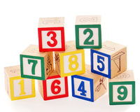block numrerade staplat Arkivbild