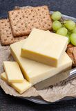 Block Of Aged Cheddar Cheese, The Most Popular Type Of Cheese In Royalty Free Stock Photos