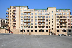 Block Of Flats And Parking Place Royalty Free Stock Image