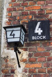 Block 4, one of the cellblocks at the Auschwitz Concentration Camp Royalty Free Stock Photos