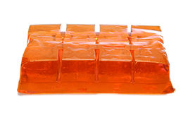 Block of orange jelly cubes Royalty Free Stock Photos