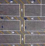 Car parking spaces Stock Images