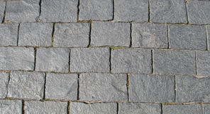 Block pavement (as a background). Closeup of block pavement (as a background Stock Photo