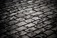 Free Block Pavement In The Darkness Stock Photography - 11242072