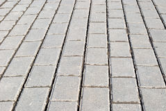 Block pavement texture Stock Images