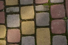 Block pavement texture background Royalty Free Stock Photos