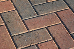 Block paving. Close up of block paving on a walkway royalty free stock images