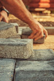 Block paving being layed Stock Photography