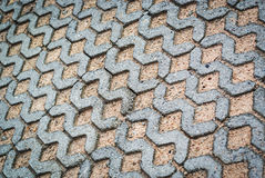 Block paving being layed ground place Stock Images