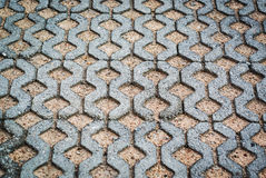 Block paving being layed ground place Stock Photography