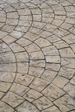 Block Paving Old grey pavement in a pattern texture Royalty Free Stock Photos