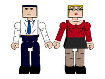 Block People Holding Hands Royalty Free Stock Photography