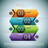 Block-Pfeil Stockfotografie